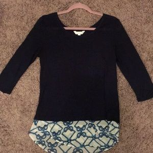 Navy Charming Charlie Blouse